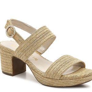 Anne Klein Woven Padrino Platform Sandal Size 10